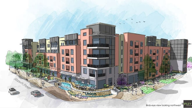 The Union on Elizabeth is student housing planned on the site of the shopping center that formerly housed Panhandler's Pizza and Village Vidiot.