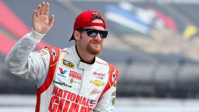 Dale Earnhardt Jr. won Sprint Cup's first stop at Pocono Raceway in June. He'll start ninth Sunday.