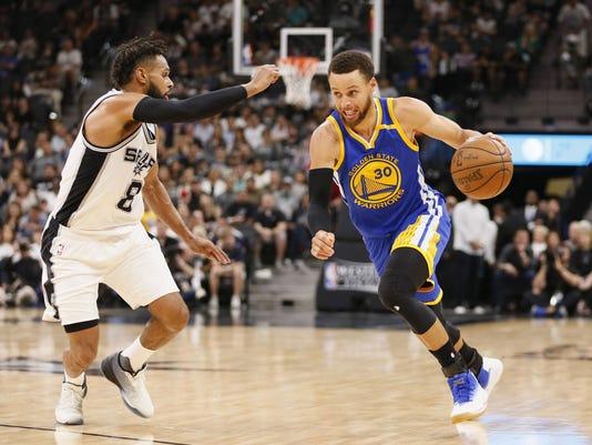 USP NBA: PLAYOFFS-GOLDEN STATE WARRIORS AT SAN ANT S BKN SAS GSW USA TX