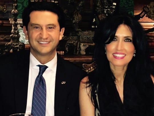Nissan North America Chairman Jose Muñoz and his wife,