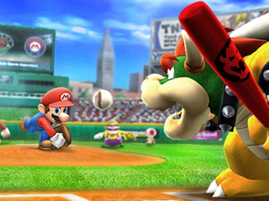 Mario and Bowser face off for the gazillionth time Mario Sports Superstars for 3DS.