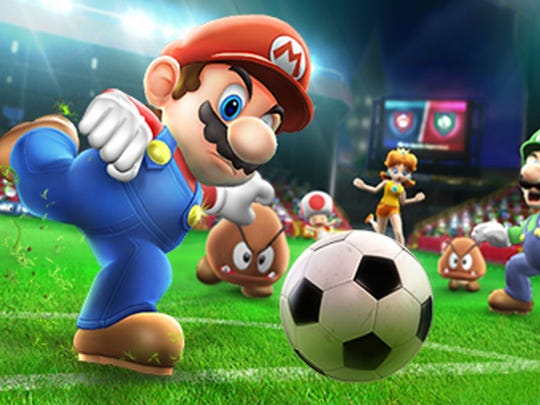 Everyone's favorite plumber hits the pitch in Mario Sports Superstars.