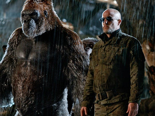 """Woody Harrelson is one of the less hirsute individuals in """"War for the Planet of the Apes."""""""