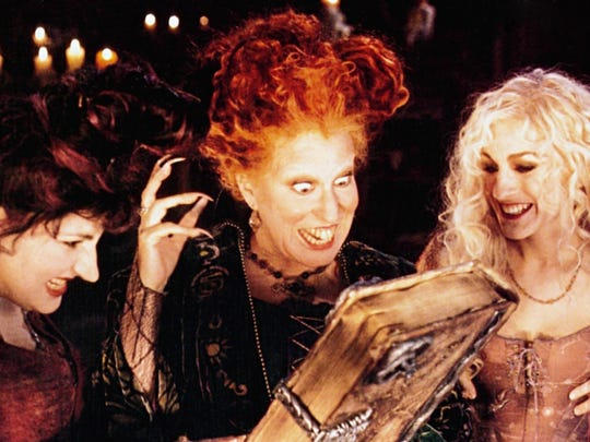"Kathy Najimy, Bette Midler, Sarah Jessica Parker star in ""Hocus Pocus."""