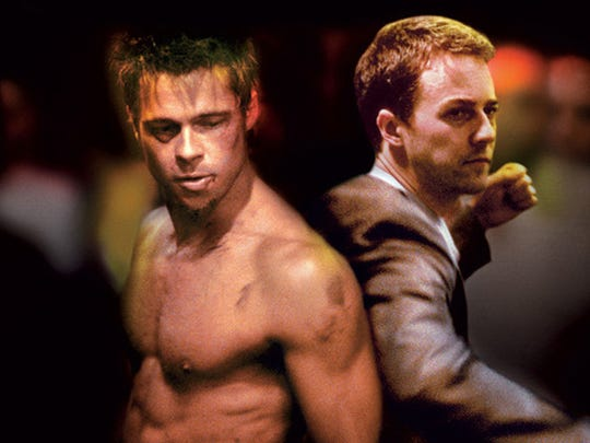 "Brad Pitt and Edward Norton starred in ""Fight Club,"""