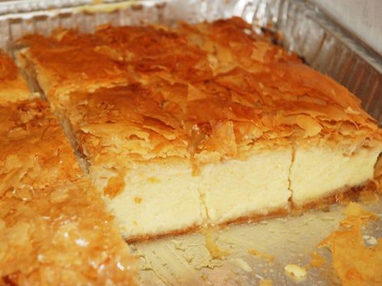 Galaktoboureko (gah-lahk-toh-BOO-reh-koh) is a sweet
