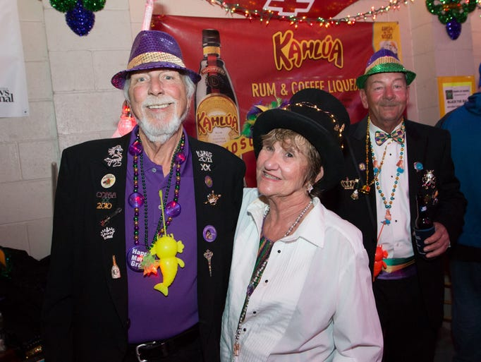 Members of numerous krewes join in and enjoy the 2017