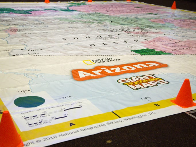 "National Geographic Interactive ""Giant Map"" of Arizona"