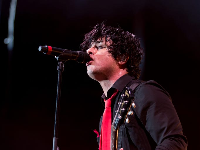 Green Day performs during the Revolution Radio tour