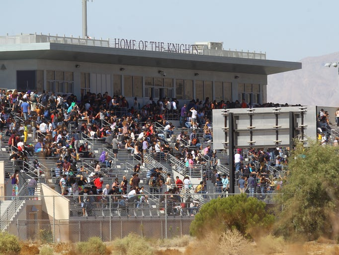 Shadow Hills High School students were evacuated to