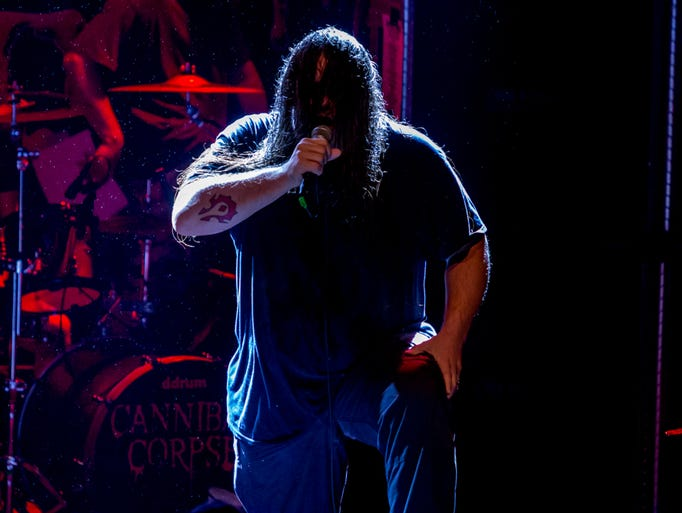 Cannibal Corpse headlines a packed show at Vinyl Music
