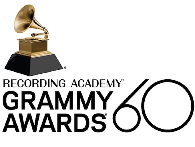 60th annual Grammy Awards logo