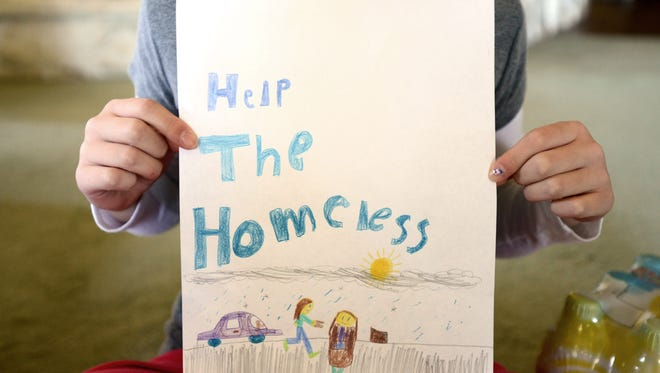 A student at Eagle Charter School in Salem launched a project in 2014 to help feed the homeless. Her family helped her post a video on an online fundraising site and set up a PayPal account for donations.