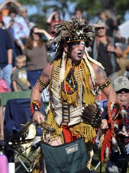 Ed Winddancer of the Nanticoke tribe performs for the audience during a previous Native Rhythms Festival. The festival received a $1,506 Brevard County community cultural grant for the current budget year.