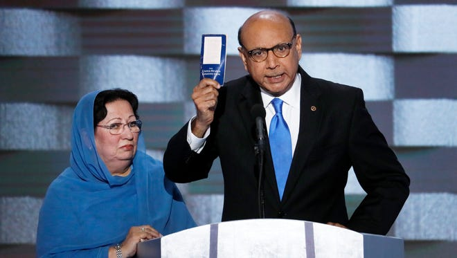 Ghazala and Khizr Khan, parents of fallen Army Capt. Humayun Khan, appeared at the Democratic National Convention in Philadelphia in 2016. On Thursday, Khizr Khan will appear in Collingswood at a rally in support of Phil Murphy, the Democratic candidate for governor of New Jersey.