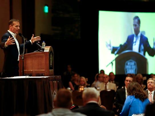 Missouri Gov. Eric Greitens speaks at the Missouri