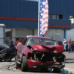 Police investigate a vehicle crash that closed Silverton Road NE in both directions near 17th Street NE on Thursday, July 21, 2016, in Salem.