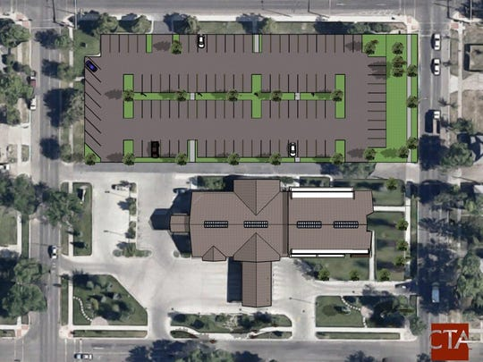 This projection shows the Montana Federal Credit Union's projected layout once the remodel and expansion are complete.