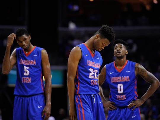 Louisiana Tech guard Alex Hamilton, right, has been
