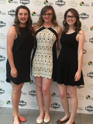 The first place group of students representing NMSU at the IFAMA Conference. From left: Shayna Gallacher, Julie Wilbanks and Emily Russell.