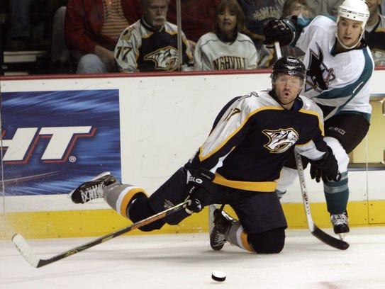 Forward Scott Hartnell played his first six NHL seasons