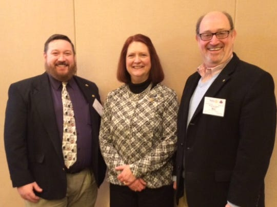 President elects, from left, Ryan Ross of the Rotary Club of Towanda, Nancy Brittain from the Rotary Club of Sayre and Mike Hummel from the Rotary Club of Wellsboro attended training in Whippany, New Jersey.
