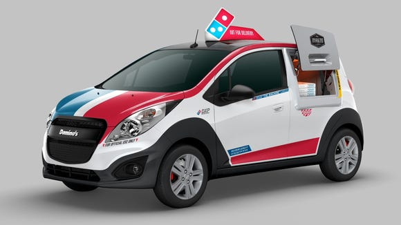 Domino's has unveiled its pizza delivery car -- a Chevy