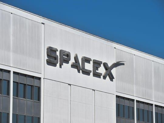 SpaceX headquarters in Hawthorne, California.