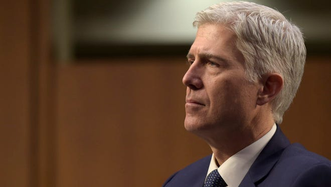 Supreme Court Justice nominee Neil Gorsuch during his confirmation hearing in Capitol Hill on March 22, 2017.