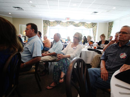 File art of a Capital City Republican Club meeting.