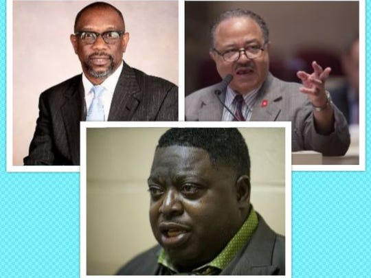 House District 78 Democratic candidates, clockwise, Kirk Hatcher, Rep. Alvin Holmes and Terance Dawson. There is no Republican challenger