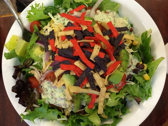 The Southwestern Salad at The Pastry Pub in Cedar City