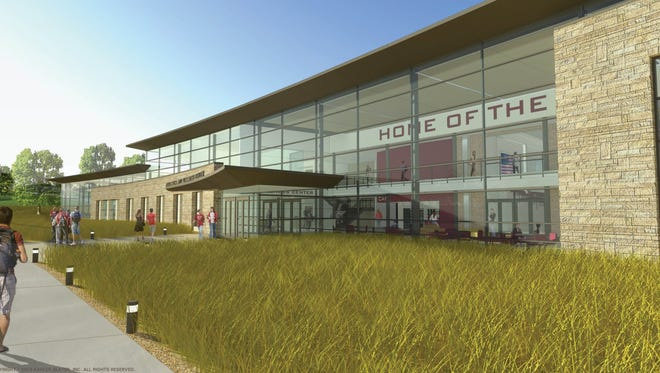 An artist's rendering of the planned renovation and expansion of the J. M. Storzer Athletics, Health and Wellness Center