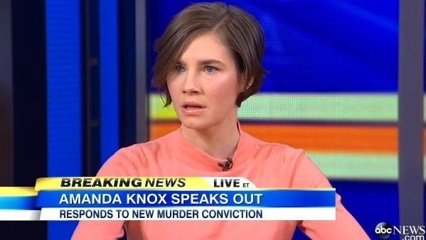 """Amanda Knox tells Good Morning America that she will 'never willingly go back"""" to Italy, where an appeals court has declared her guilty of murdering her roommate in 2007."""