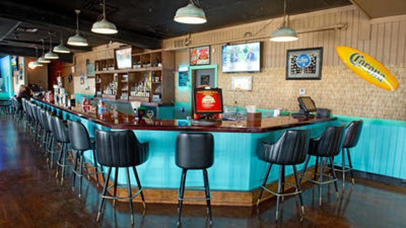 The bar at Buzzard Bay Pub.