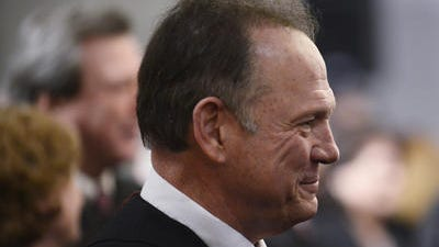 Alabama Chief Justice Roy Moore attends the State of the State Address on Jan. 14, 2014.