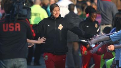 Abby Wambach reported to WNY Flash camp on Tuesday and looked fit and ready to go for another National Women's Soccer League season.