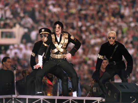 Michael Jackson performs during the halftime show of