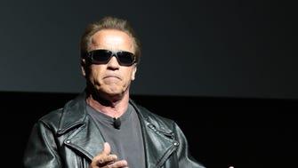 Arnold Schwarzenegger attends Paramount Pictures presentation at CinemaCon in Las Vegas.