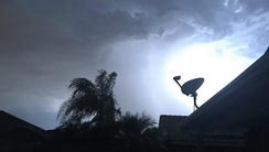 Lightning in Mesa on Monday night (June 29, 2016).