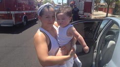 Angela Valenzuela is pictured with her son Johnny,