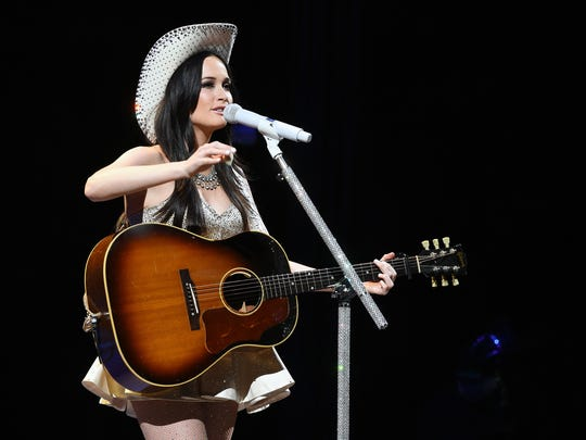 Kacey Musgraves takes the stage Saturday at the 2017 Las Cruces Country Music Festival.