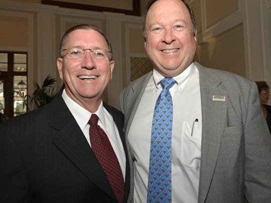 In 2016, Ken Pruitt, left, and attorney Michael Minton, were finalists for the Pete Hegener Leadership Award. Minton won the award that year.