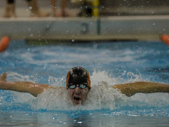 Palmyra's Tanner Yaw will compete in both the 200 and 400-yard freestyle relay events at the PIAA Swimming Championships this week.