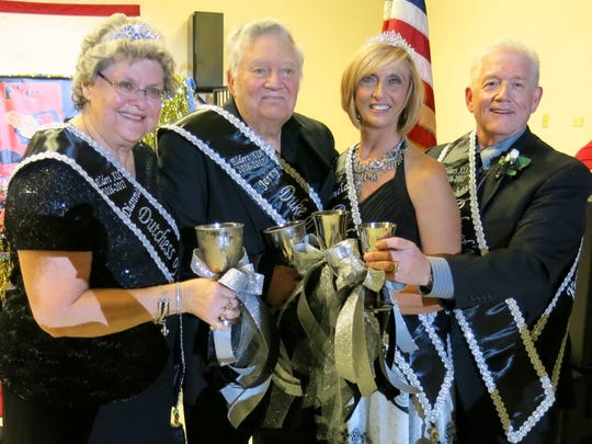 Krewe Elders Dukes and Duchesses: Longevity Pamela Brown and Michael Brown and Wisdom Dianne Harmon and Jerry Harmon.