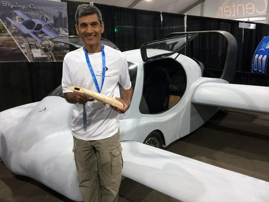 Sanjay Dhall, founder of Detroit Flying Cars, stands