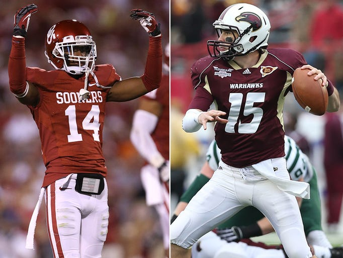 10) Louisiana-Monroe at No. 16 Oklahoma, 7 p.m. ET, FSN (PPV): The Warhawks showed last season that they can hang with the big boys, beating top-10 Arkansas, forcing OT at Auburn and pushing Baylor to the brink.
