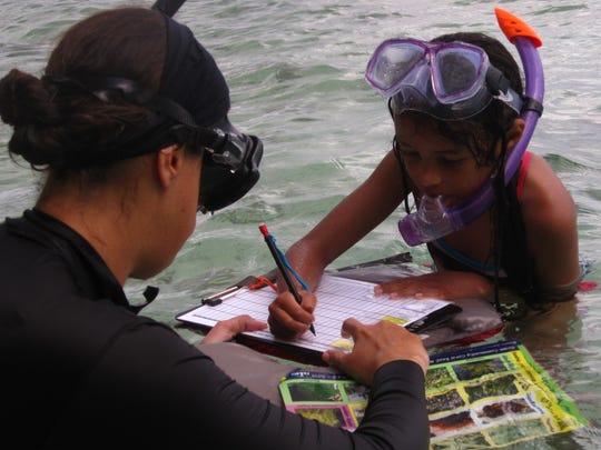 Guam Community Coral Reef Monitoring Program volunteers