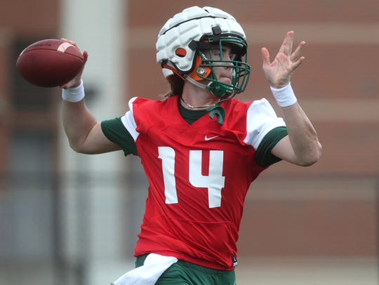 FAMU's Ryan Stanley throws the ball as the team opens