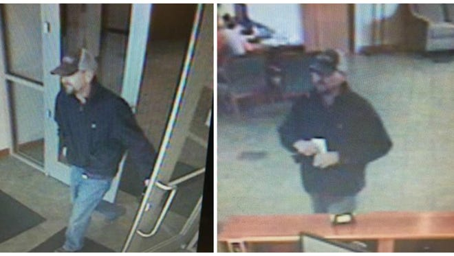 Portland police and the FBI are trying to identify a man wanted in connection with the robbery of Volunteer State Bank on Thursday.